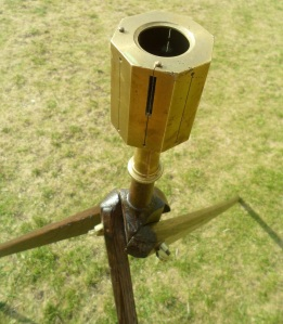 A Surveyors Cross. This one also allows you to sight 45 degrees.
